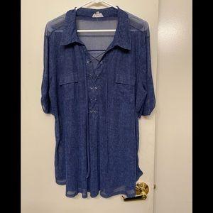 Lily Siren women's sheer blouse size 3x